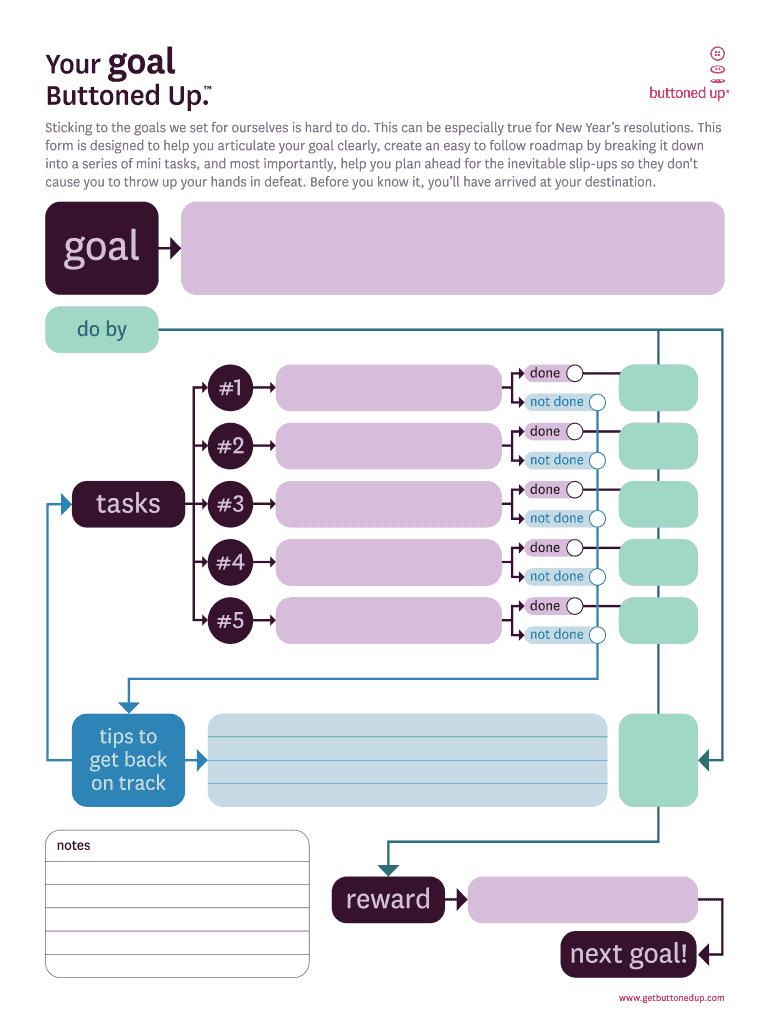 Goal Setting Worksheet Fill Online Printable Fillable