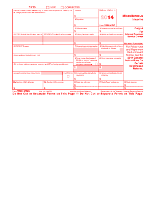 2014 Form IRS 1099-MISC Fill Online, Printable, Fillable, Blank