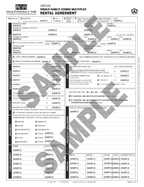 Simple One Page Lease Agreement Forms And Templates