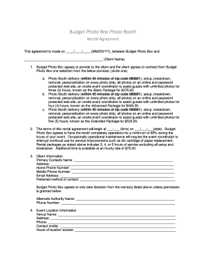 54 Printable Booth Rental Agreement Forms And Templates Fillable