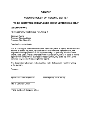 Sample letter for change of name in school records forms and sample agentbroker of record letter journeywell spiritdancerdesigns Choice Image