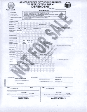 afp dependent id form