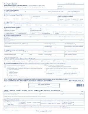 direct deposit form navy federal  Navy Federal Direct Deposit Form - Fill Online, Printable ...