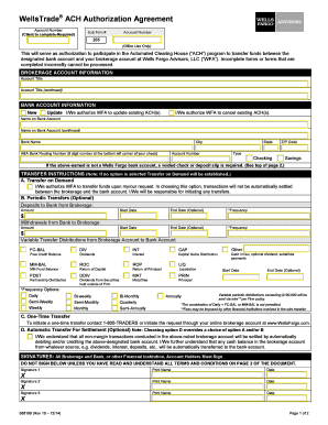 wells tradeach authorization form Fill Online, Printable, Fillable ...
