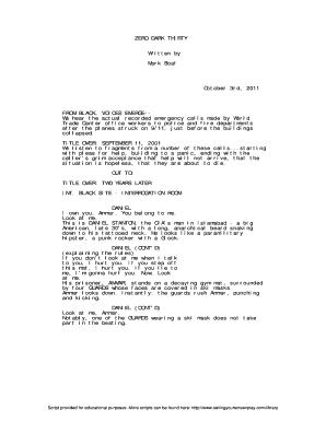 talk show script