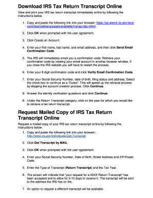 irs tax transcript online Forms and Templates - Fillable ...