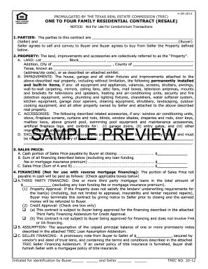 Trec 20 12 Fillable Form Fill Online Printable Fillable