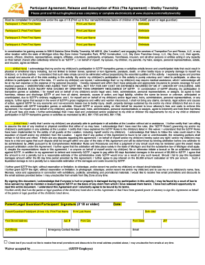 photograph regarding Printable Sky Zone Waiver named Sky Zone Waiver - Fill On-line, Printable, Fillable, Blank