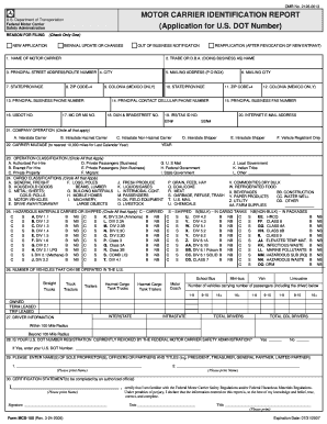 fillable online motor carrier identification report