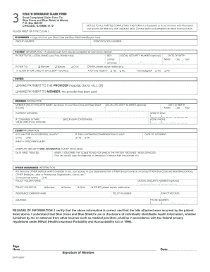 bcbs international claim form Templates - Fillable & Printable ...