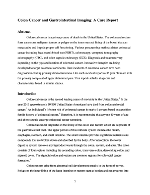 Fillable Online Colon Cancer And Gastrointestinal Imaging A Case Report Fax Email Print Pdffiller
