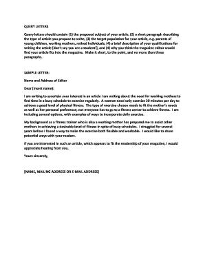 QUERY LETTERS  Enquiry Letter Format