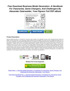 Business Model Generation PDF Free Download