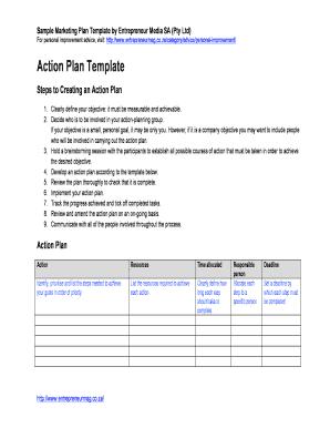 Business Plan Template Entrepreneur Edit Online Fill