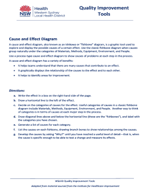 Fillable online a cause and effect diagram also known as an fill online ccuart Image collections