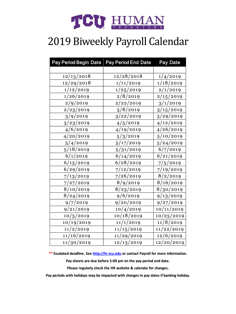 2020 Biweekly Payroll Calendar Template Fill Online Printable Fillable Blank Pdffiller