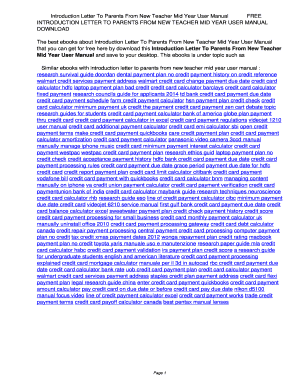 Fillable new teacher mid year letter to parents - Edit, Print