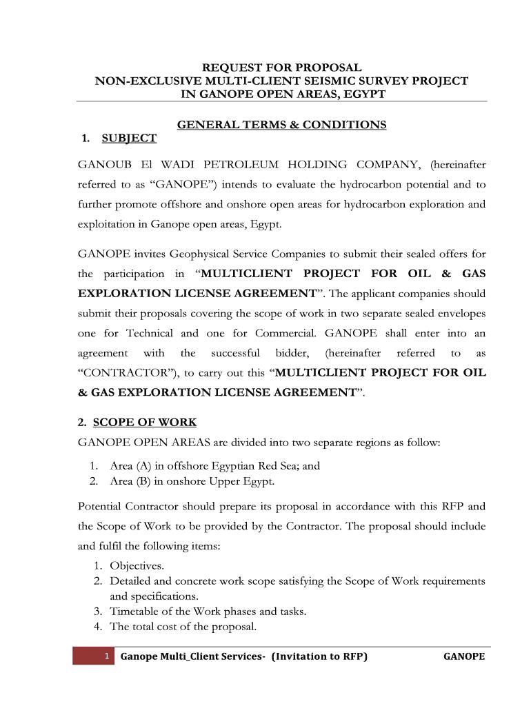 Page 1 Ministry of Petroleum Ganoub El-Wadi Petroleum