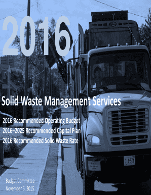 Fillable Online Solid Waste Management Services Fax Email