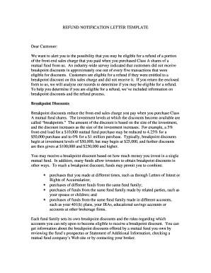 Fillable no refund letter to customer sample edit online cetera advisor networks llc finra spiritdancerdesigns Images