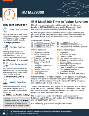 Fillable Online IBM MaaS360 Time-to-Value Services Fax Email