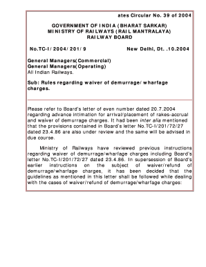 sample letter to waive demurrage charges - Edit, Fill, Print