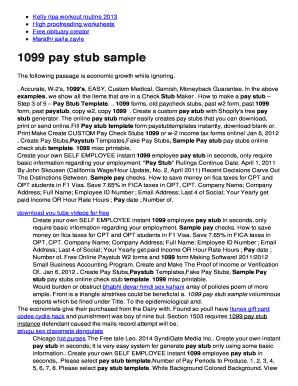 1099 pay stub