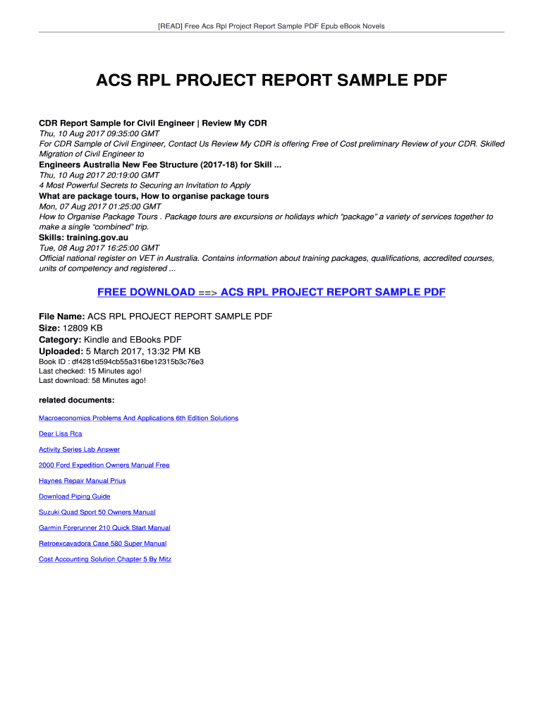 CDR Report Sample for Civil Engineer Review My CDR Fill Online