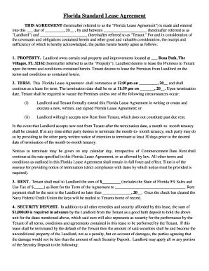 Printable florida lease agreement edit fill out download forms florida standard lease agreement platinumwayz
