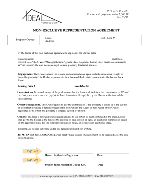 Booking Agent Agreement Non Exclusive