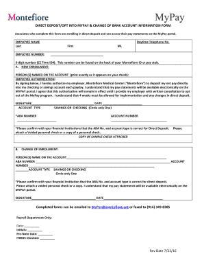 mypay multiple direct deposit - Printable Form Templates to