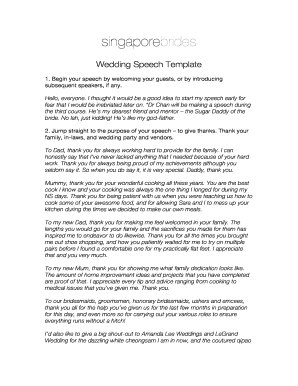 Printable funny groom speech template - Fill Out & Download