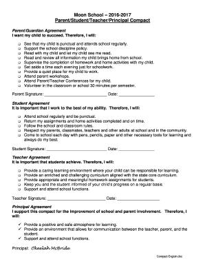 Fillable Online Parent/Student/Teacher/Principal Compact Fax