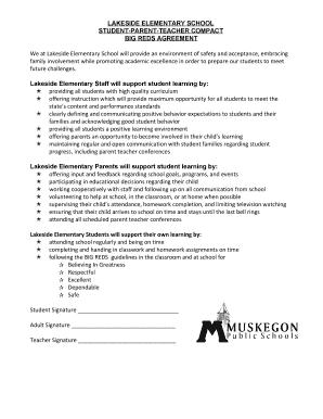 Fillable Online STUDENT-PARENT-TEACHER COMPACT Fax Email