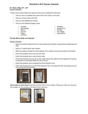 Printable notability checklist - Edit, Fill Out & Download