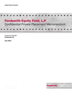 Editable private placement memorandum private equity - Fill