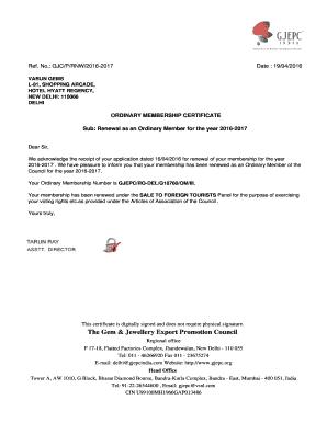 gjepc membership renewal form