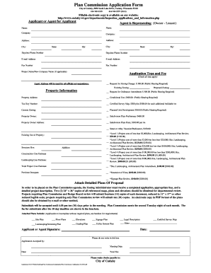 Plan Commission Application Form