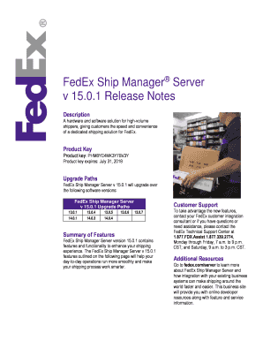 fedex shipping manager product key