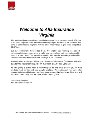 Fillable Online Welcome To Alfa Insurance Fax Email Print Pdffiller
