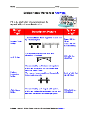 Fillable Online Bridge Notes Worksheet Answers Fax Email Print