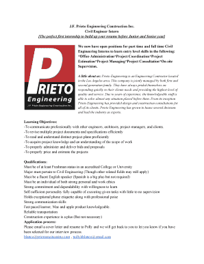junior civil engineer resume prieto engineering construction inc - Junior Civil Engineer Resume