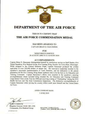 The Air Force Commendation Medal