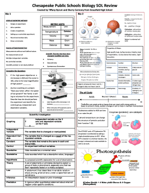 Chesapeake Public Schools Biology Sol Review Fill Online Printable Fillable Blank Pdffiller