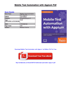 Fillable Online Mobile Test Automation with Appium Pdf Fax