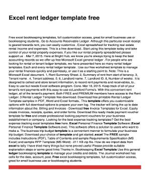 rent spreadsheet template