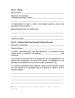 garbage disposal letter tenants   Edit, Fill Out, Print & Download