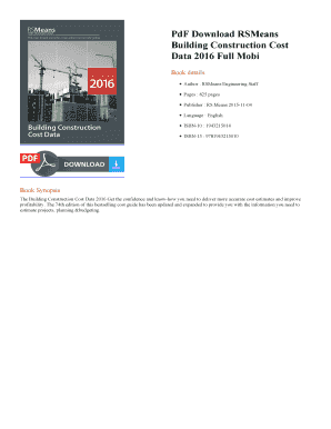 Fillable Online RSMeans Building Construction Cost Data 2016