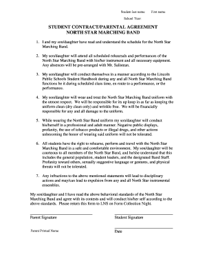 Printable Simple Band Performance Contract Edit Fill Out - Performance contract template