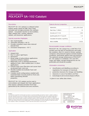 Fillable Online POLYCAT SA-102 Catalyst Fax Email Print - PDFfiller